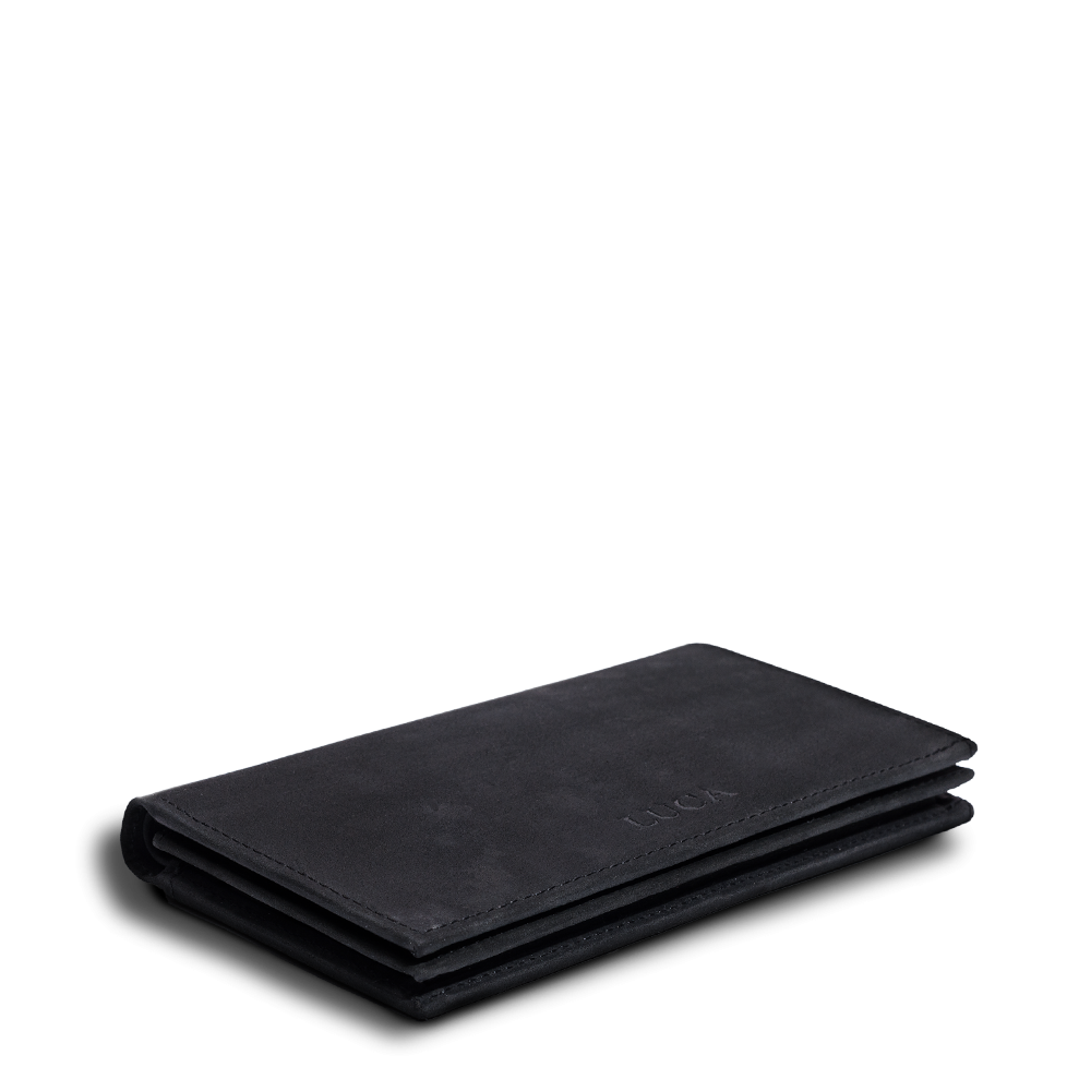 LUCA iPhone 6 Plus wallet - nubuck black 5