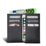 LUCA iPhone 6 Plus wallet - nubuck black