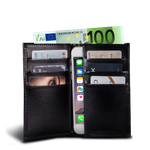 LUCA iPhone Max & Plus wallet - calf leather black