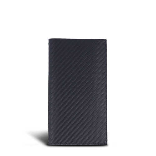 LUCA iPhone 6 / 6S wallet - carbon-look Handmade in Germany iPhone 6 / 6S leather case