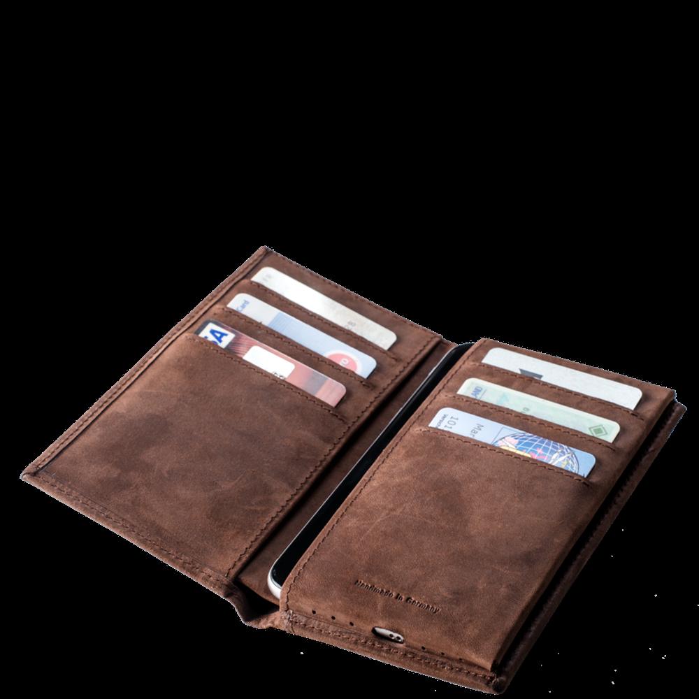 LUCA iPhone 6 wallet - nubuck vintage choco 5