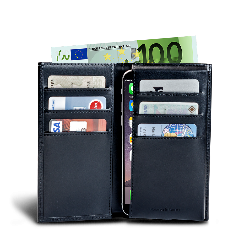 LUCA iPhone 6 wallet - calf leather black 1