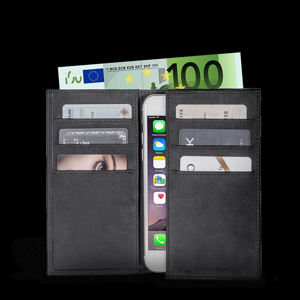 LUCA iPhone 6 wallet - nubuck black 1