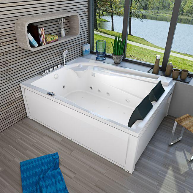 Whirlpool Vollausstattung Pool Badewanne Eckwanne Wanne A612HZ-A 180x135
