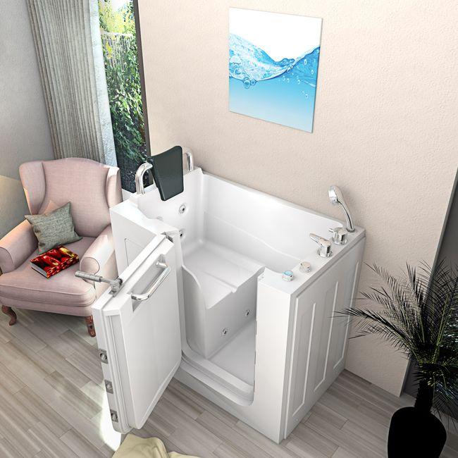 Senioren Whirlpool Seniorenbadewanne Sitzwanne Badewanne mit Tür Pool A108WP – Bild 1
