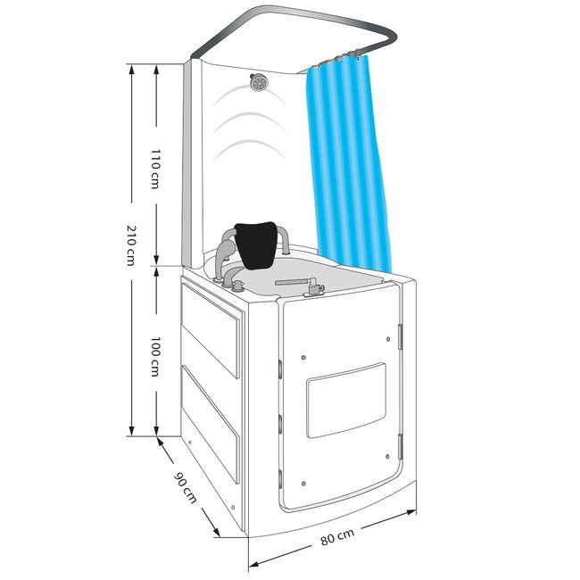 Senioren Dusche Sitzbadewanne Sitzwanne Duschbadewanne mit Tür Pool A110D – Bild 9