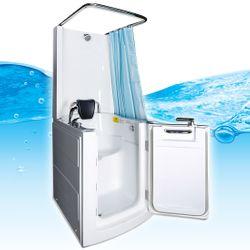 Senioren Dusche Sitzbadewanne Sitzwanne Duschbadewanne mit Tür Pool A110D 001