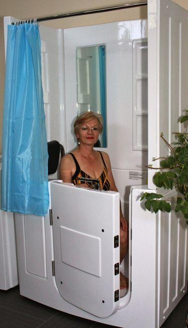 Senioren Dusche Whirlpool Seniorenbadewanne Badewanne mit Tür Pool A108D-WP – Bild 1