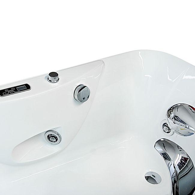 AcquaVapore Whirlpool Vollausstattung Pool Badewanne Wanne A1149-PR 170x80cm – Bild 6