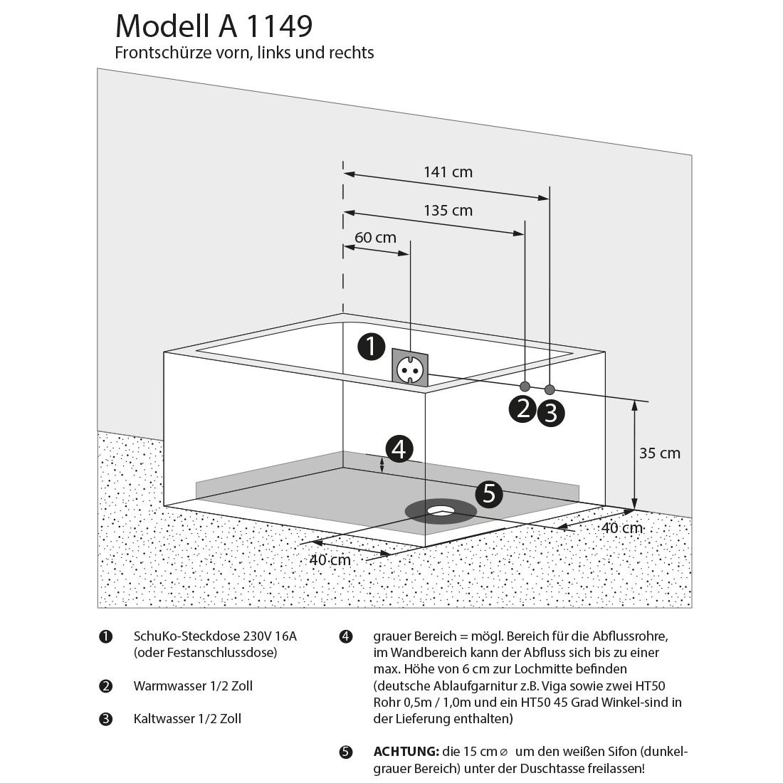 whirlpool vollausstattung pool badewanne wanne a1149 all 170x80cm. Black Bedroom Furniture Sets. Home Design Ideas