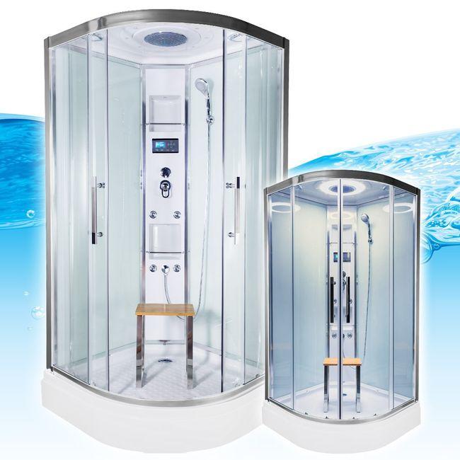 AcquaVapore QUICK26-0005 Dusche Duschtempel Komplette Duschkabine -Th 80x80