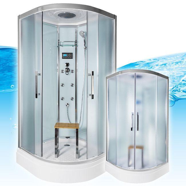 AcquaVapore QUICK26-0010 Dusche Duschtempel Komplette Duschkabine 80x80