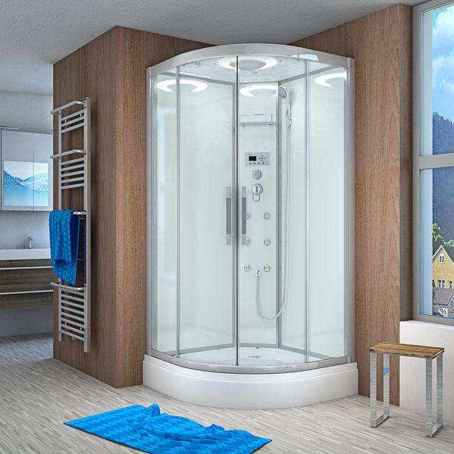 AcquaVapore QUICK26-1000 Dusche Duschtempel Komplette Duschkabine 90x90