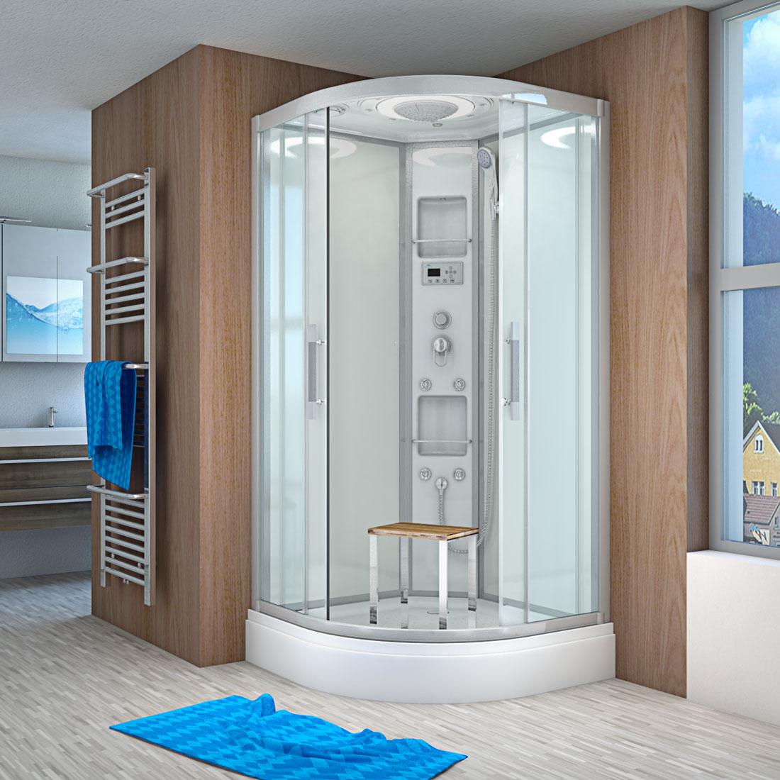 acquavapore quick26 1004 ws dusche 90x90cm. Black Bedroom Furniture Sets. Home Design Ideas