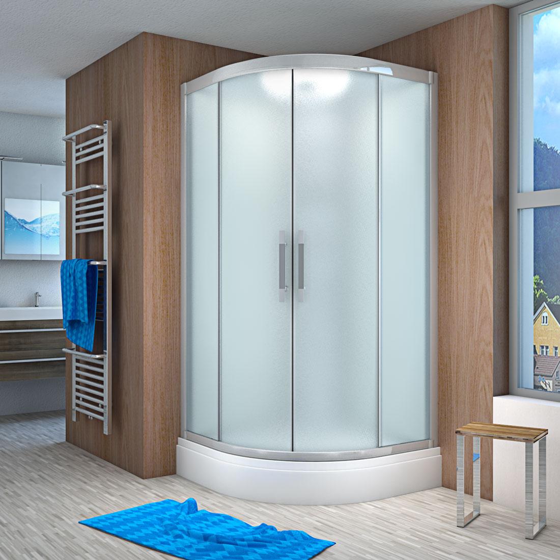 acquavapore quick26 1011 ws dusche 90x90cm. Black Bedroom Furniture Sets. Home Design Ideas