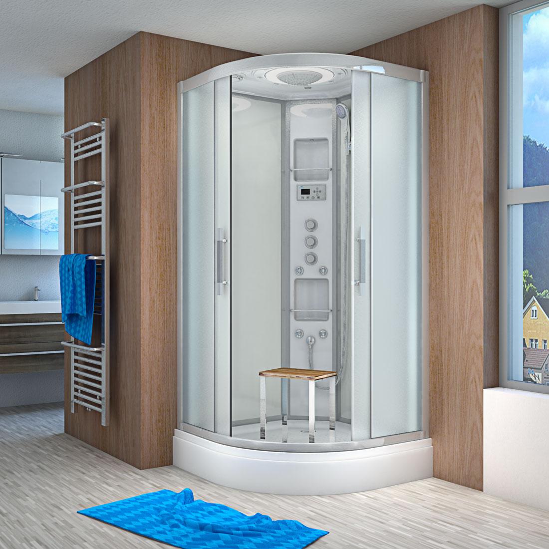 acquavapore quick26 2015 ws dusche 100x100cm. Black Bedroom Furniture Sets. Home Design Ideas