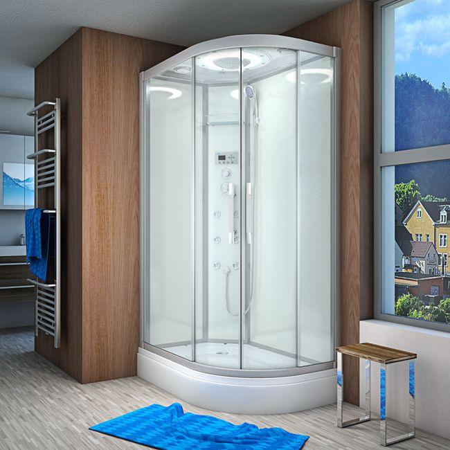 AcquaVapore QUICK26-7000R Dusche Duschtempel Komplette Duschkabine 80x120