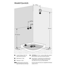 AcquaVapore QUICK26-7311R Dusche Duschtempel Komplette Duschkabine -Th 80x120 Bild 5