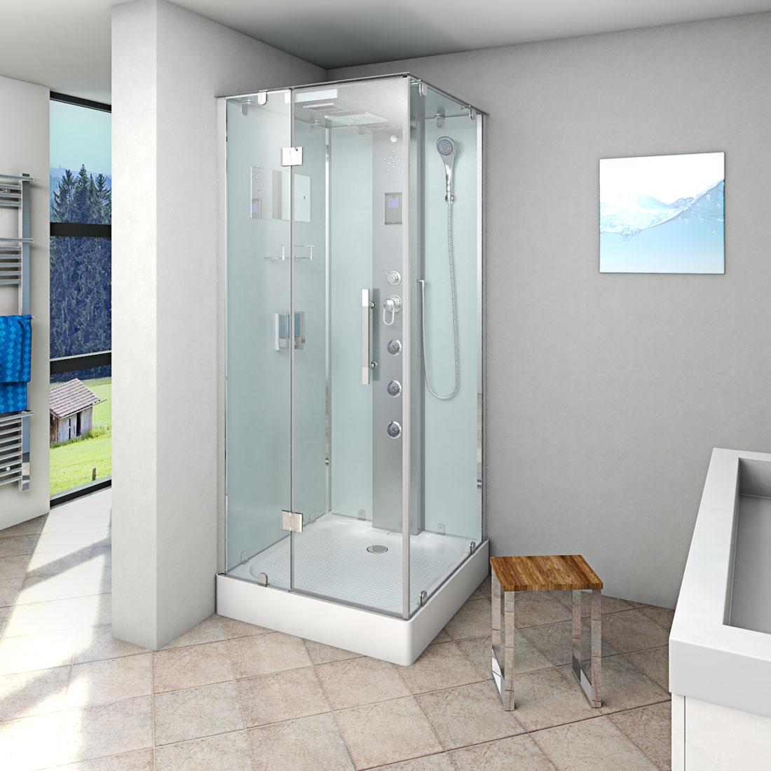 acquavapore dtp6038 0000l dusche duschtempel komplett duschkabine 80x80 ebay. Black Bedroom Furniture Sets. Home Design Ideas