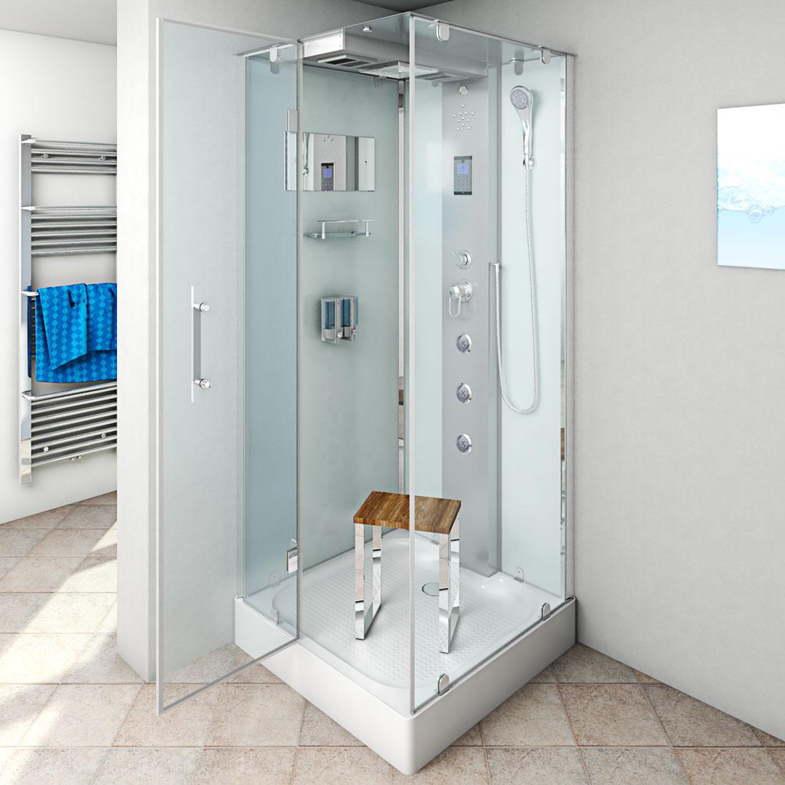 acquavapore dtp6038 0002l dusche dampfdusche duschtempel duschkabine 80x80 ebay. Black Bedroom Furniture Sets. Home Design Ideas