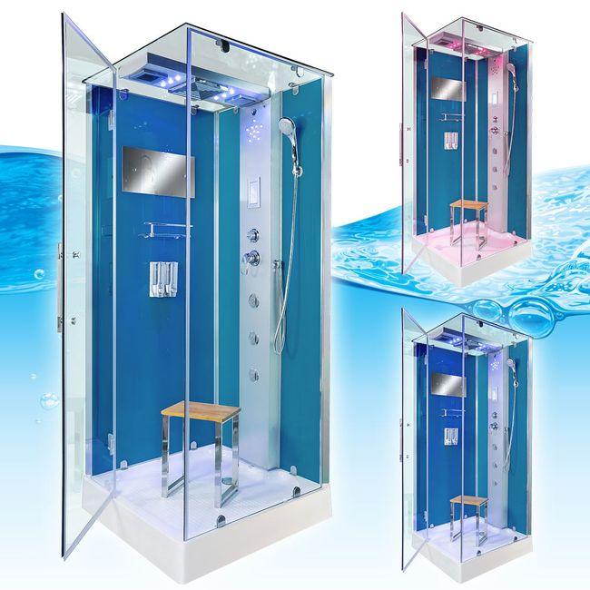 AcquaVapore DTP6038-1101L Dusche Duschtempel Komplett Duschkabine -Th. 90x90 – Bild 3