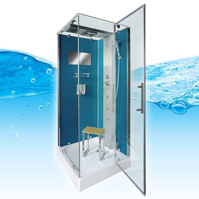 AcquaVapore DTP6038-1101R Dusche Duschtempel Komplett Duschkabine -Th. 90x90 – Bild 1