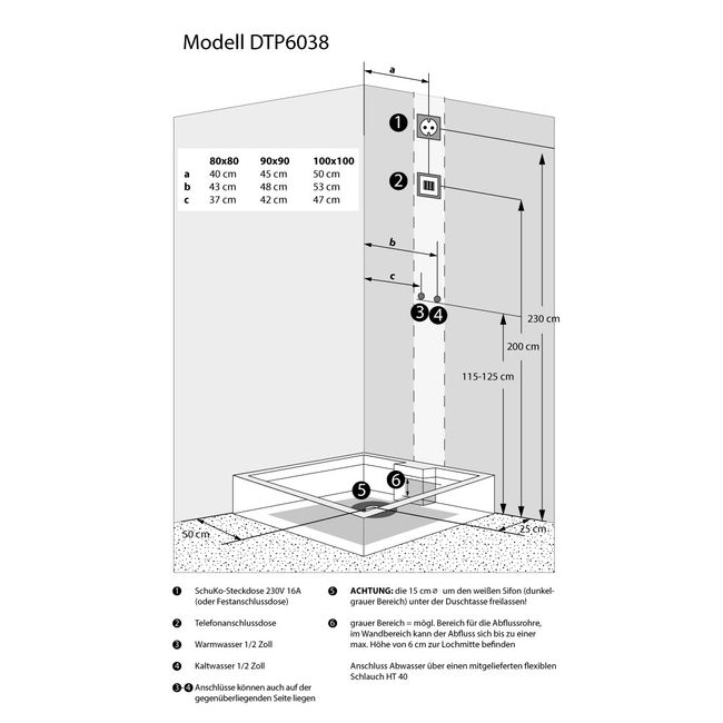 AcquaVapore DTP6038-1203L Dusche Dampfdusche Duschtempel Duschkabine -Th. 90x90 – Bild 5