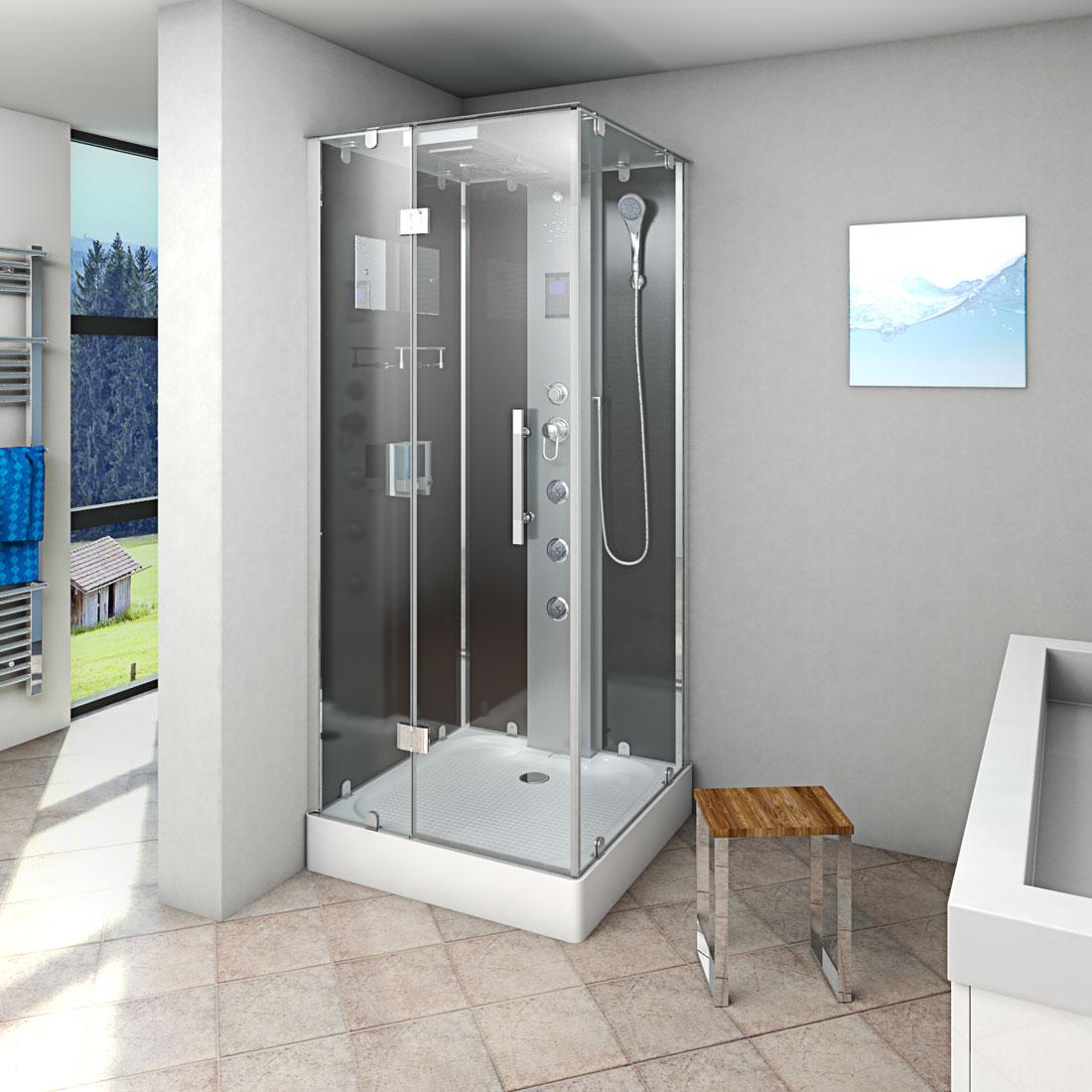 acquavapore dtp6038 1300l dusche 90x90cm. Black Bedroom Furniture Sets. Home Design Ideas
