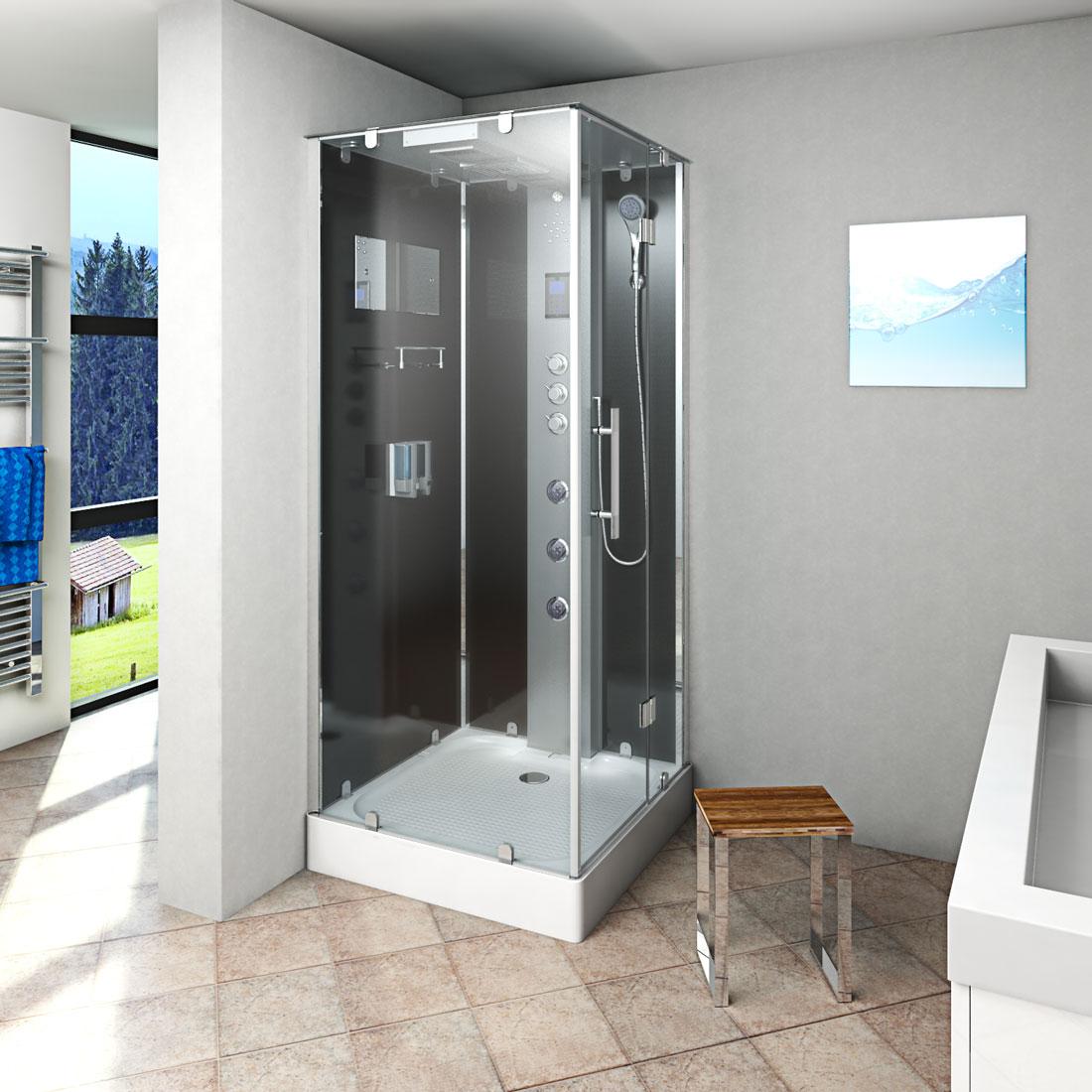 Große dicke Dusche