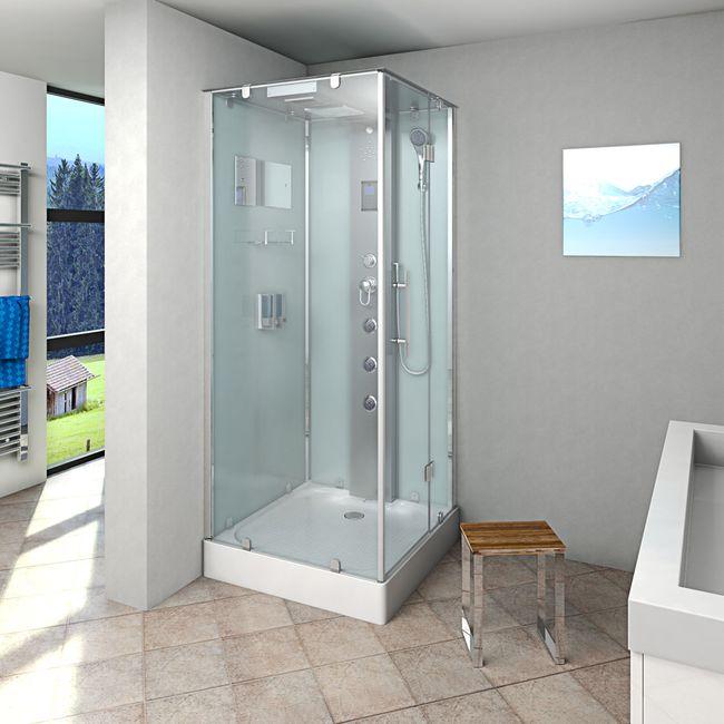AcquaVapore DTP6038-2000R Dusche Duschtempel Komplett Duschkabine 100x100