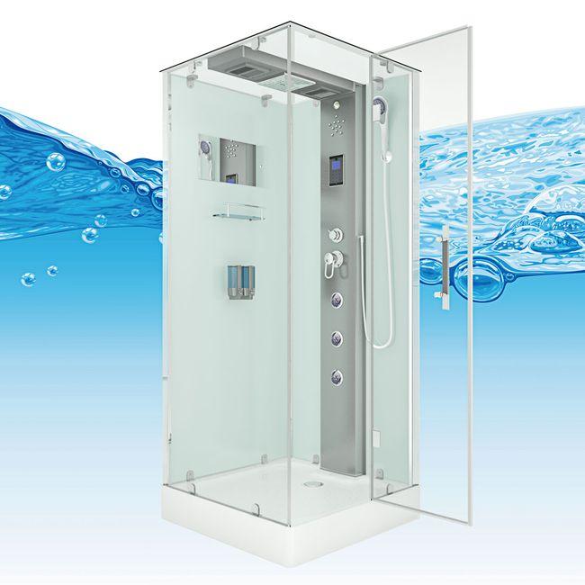 AcquaVapore DTP6038-2000R Dusche Duschtempel Komplett Duschkabine 100x100 – Bild 9