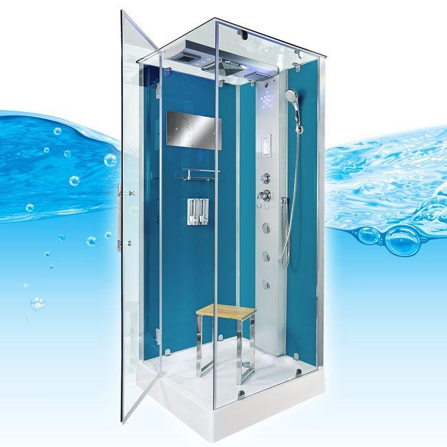 AcquaVapore DTP6038-2101L Dusche Duschtempel Komplett Duschkabine -Th. 100x100 – Bild 7