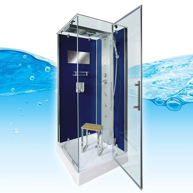 AcquaVapore DTP6038-2200R Dusche Duschtempel Komplett Duschkabine 100x100 – Bild 1