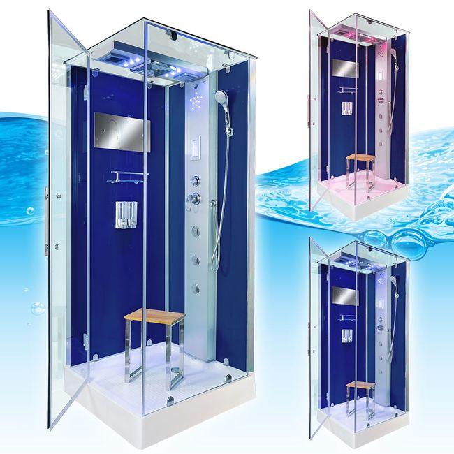 AcquaVapore DTP6038-2201R Dusche Duschtempel Komplett Duschkabine -Th. 100x100 – Bild 3