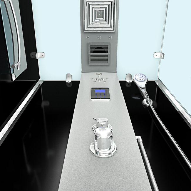 AcquaVapore DTP6038-2300L Dusche Duschtempel Komplett Duschkabine 100x100 – Bild 6
