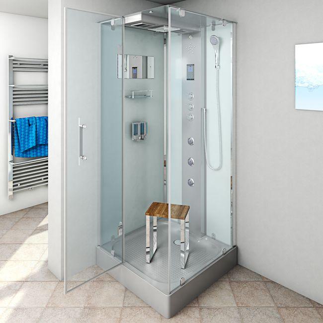 AcquaVapore DTP6038-3001L Dusche Duschtempel Komplett Duschkabine -Th. 90x90 – Bild 2