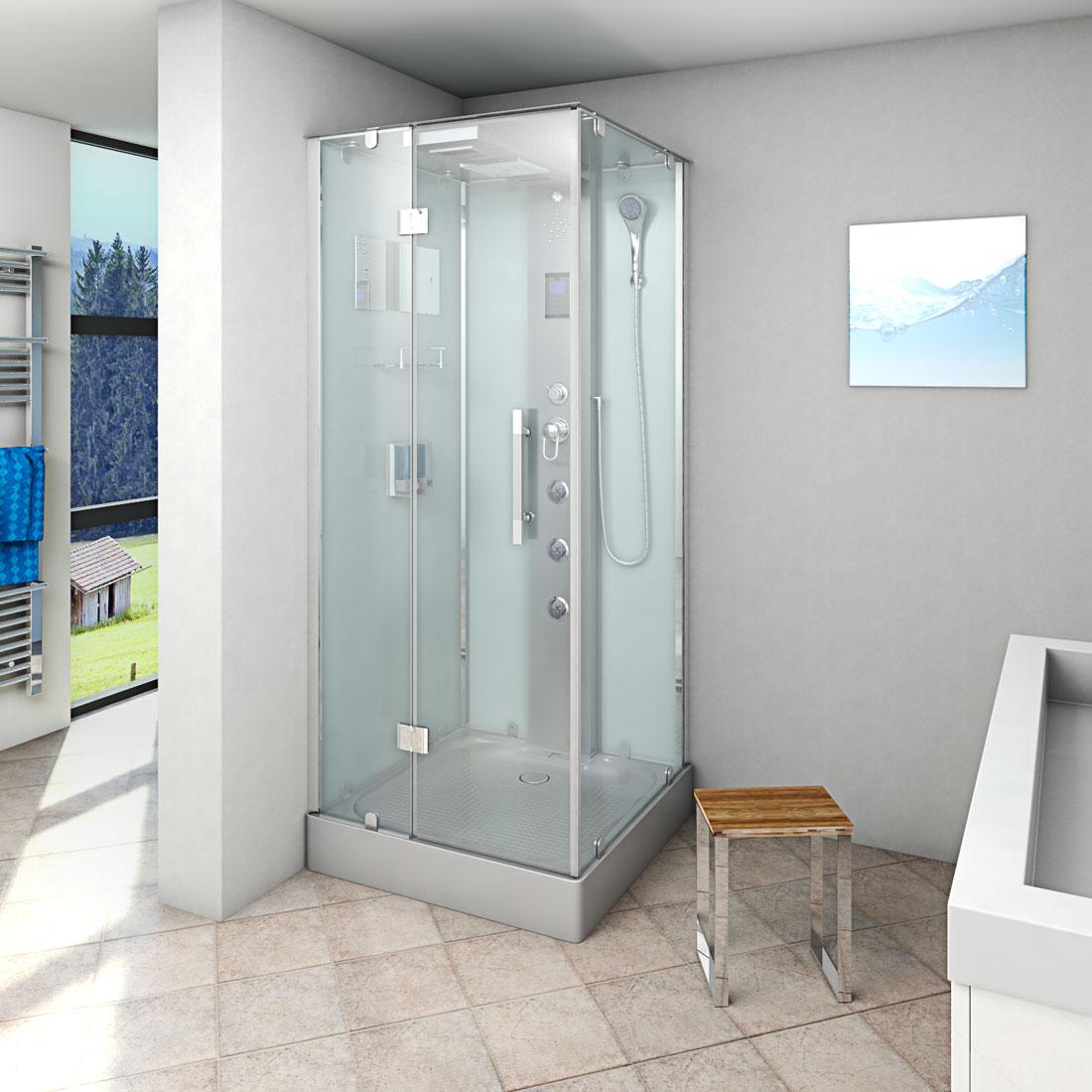 acquavapore dtp6038 3002l dusche dampfdusche duschtempel duschkabine 90x90 ebay. Black Bedroom Furniture Sets. Home Design Ideas