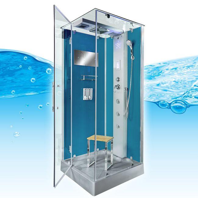 AcquaVapore DTP6038-3101L Dusche Duschtempel Komplett Duschkabine -Th. 90x90 – Bild 7