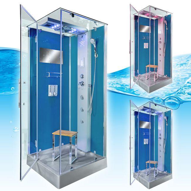 AcquaVapore DTP6038-3101R Dusche Duschtempel Komplett Duschkabine -Th. 90x90 – Bild 3