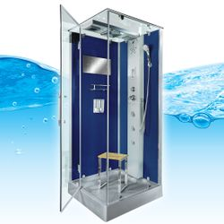 AcquaVapore DTP6038-3200L Dusche Duschtempel Komplett Duschkabine 90x90 001