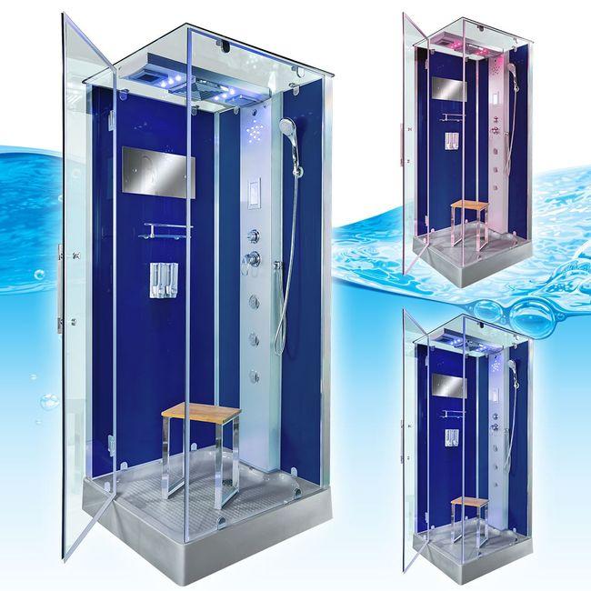 AcquaVapore DTP6038-3201L Dusche Duschtempel Komplett Duschkabine -Th. 90x90 – Bild 3