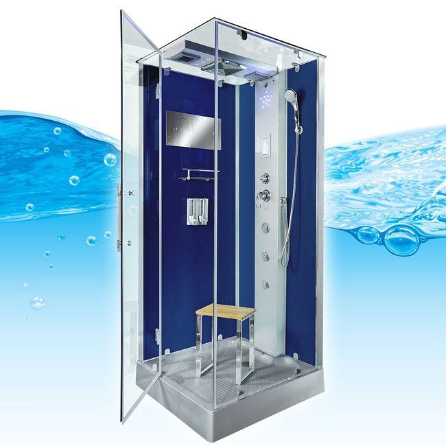 AcquaVapore DTP6038-3200R Dusche Duschtempel Komplett Duschkabine 90x90 – Bild 7