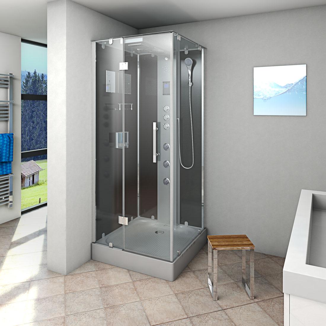 acquavapore dtp6038 3301l dusche duschtempel komplett duschkabine th 90x90 ebay. Black Bedroom Furniture Sets. Home Design Ideas
