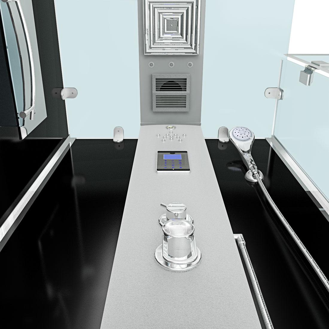 acquavapore dtp6038 3302r dusche dampfdusche duschtempel duschkabine 90x90 ebay. Black Bedroom Furniture Sets. Home Design Ideas