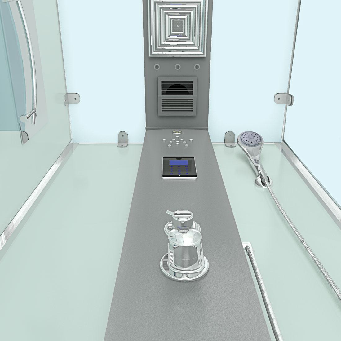 acquavapore dtp6038 8000l dusche duschtempel komplett duschkabine 80x80 ebay. Black Bedroom Furniture Sets. Home Design Ideas
