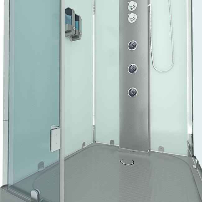 AcquaVapore DTP6038-8003L Dusche Dampfdusche Duschtempel Duschkabine -Th. 80x80 – Bild 7