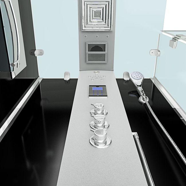 AcquaVapore DTP6038-8301R Dusche Duschtempel Komplett Duschkabine -Th. 80x80 – Bild 6