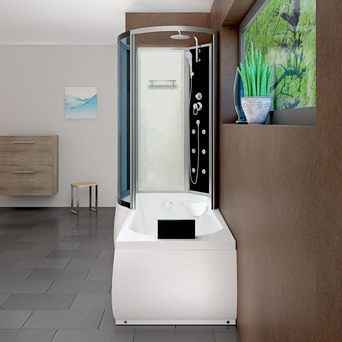 acquavapore dtp8050 a000r dusch wannen kombi in 98x170cm trendbad24. Black Bedroom Furniture Sets. Home Design Ideas