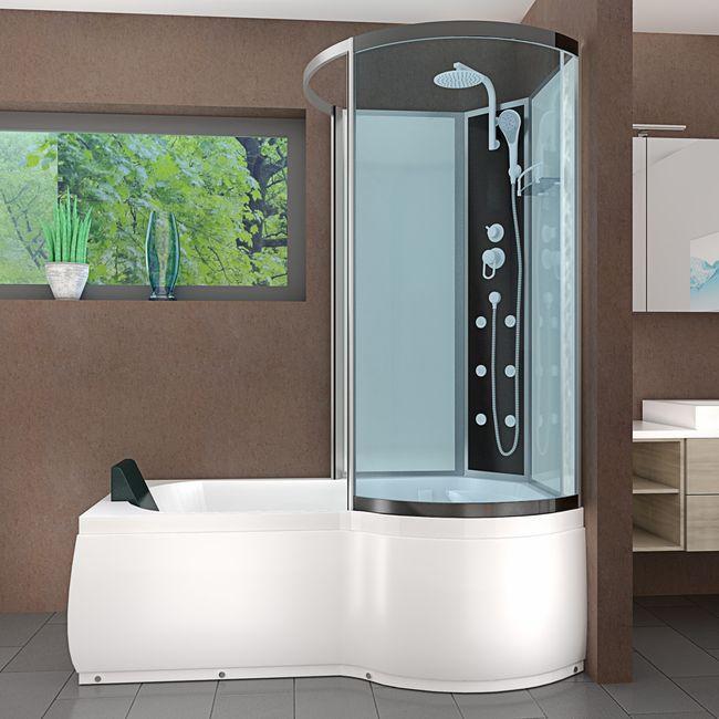 AcquaVapore DTP8050-A000L Wanne Duschtempel Badewanne Dusche Duschkabine 170x98 – Bild 2