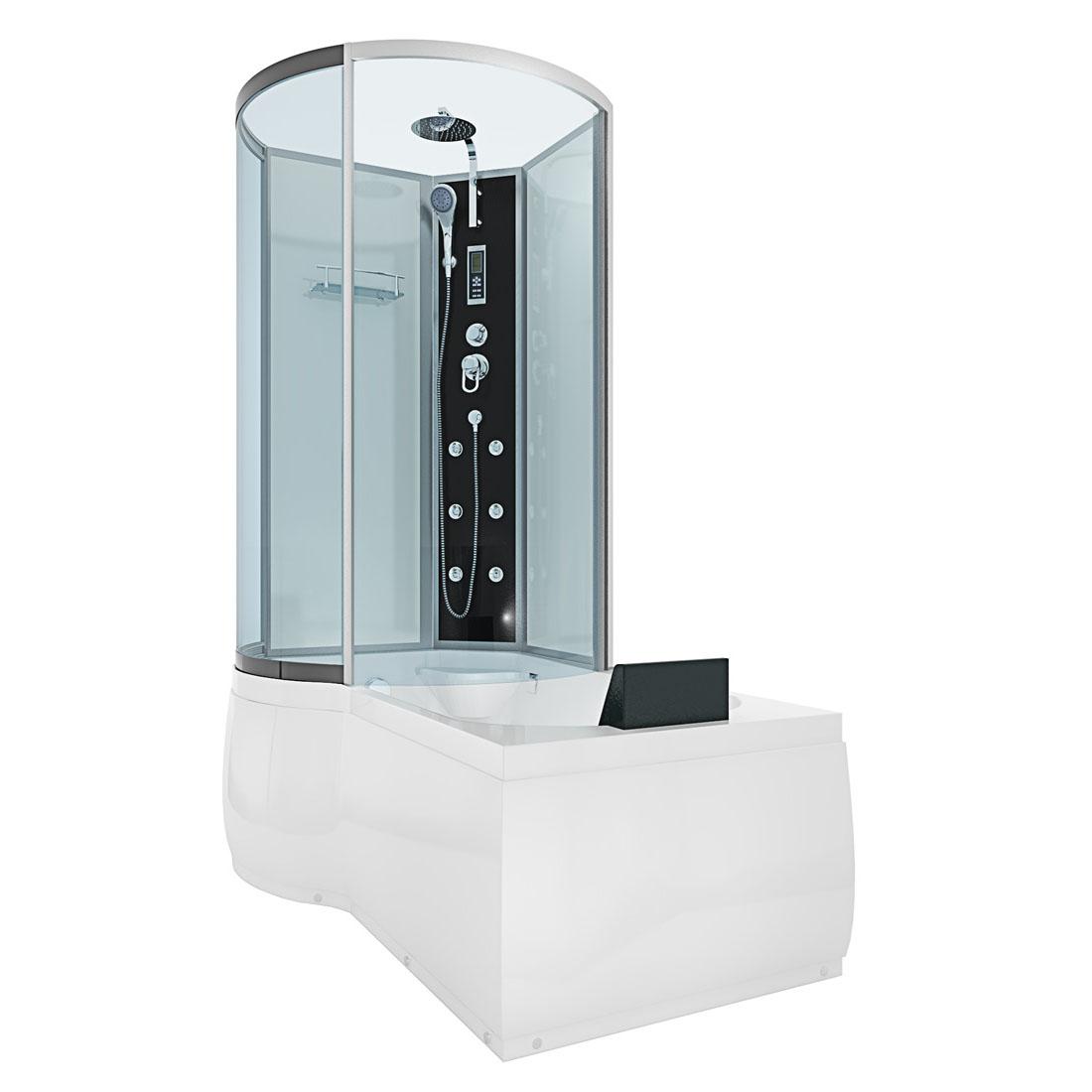 acquavapore dtp8050 a001r dusch wannen kombi in 98x170cm trendbad24. Black Bedroom Furniture Sets. Home Design Ideas